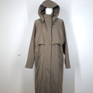 LL Bean Wool Removable Lined Trench Coat Rain L